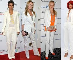 Biały, damski garnitur nowym hitem! (ZDJĘCIA)