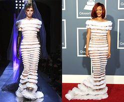 Rihanna i model w tej samej sukience! (PORÓWNAJ!)