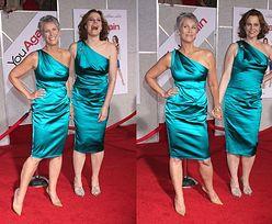 Dwie aktorki w tych samych sukienkach