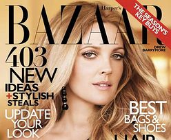 "Piękna Drew Barrymore na okładce ""Harper's Bazaar"""