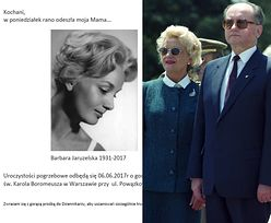 Zmarła Barbara Jaruzelska