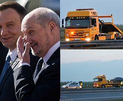 Andrzej Duda nie miał zapiętych pasów w chwili wypadku!