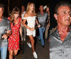 Zoperowany Sylvester Stallone spędza wakacje z żoną i córkami