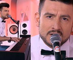 Michał Kwiatkowski śpiewa po francusku w TVN-ie