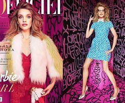 "Natalia Vodianova jako Barbie w ""L'Officiel"""