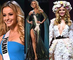 Reprezentantka Polski pozdrawia ze sceny konkursu Miss Universe