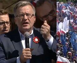 """Komorowski na marszu KOD-u: """"Przyszliśmy tutaj dlatego, że w Polsce jest źle. Oni są razem, bo dzielą pieniądze!"""""""