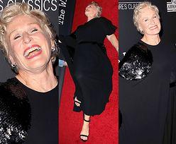 Glenn Close symuluje zgon na czerwonym dywanie