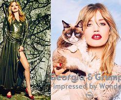Georgia May Jagger pozuje z... Grumpy Catem