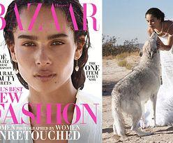 Naturalna Zoe Kravitz bawi się z wilkami w nowej sesji