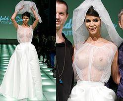 """Niemiecka """"Top Model"""" w przezroczystej sukni ślubnej (ZDJĘCIA)"""