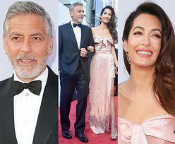 Szczęśliwi Clooneyowie pozdrawiają ze ścianki w Hollywood