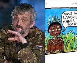 Nowy rysunek Raczkowskiego krytykowany za rasizm
