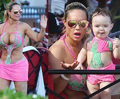 Coco Austin w bikini na obiedzie z córką (ZDJĘCIA)