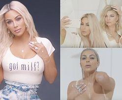 Kim Kardashian oblewa się mlekiem w nowym teledysku Fergie...