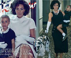"""Kim Kardashian jako """"PIERWSZA DAMA AMERYKI"""" na okładce magazynu """"Interview""""! """"Jackie Kennedy przewraca się w grobie"""""""