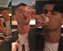 Ronaldo z narzeczoną raczą się alkoholem w londyńskiej knajpce (ZDJĘCIA)