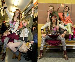 """""""Top modelki"""" wyginają się w metrze... (SEXY?)"""