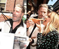 John Travolta karmi żonę pizzą na imprezie promującej nowy film (ZDJĘCIA)