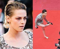 Kristen Stewart w Cannes zdjęła szpilki w akcie protestu (ZDJĘCIA)