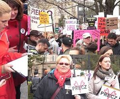 Tak wyglądał protest pod Sejmem przeciwko CAŁKOWITEMU ZAKAZOWI ABORCJI!