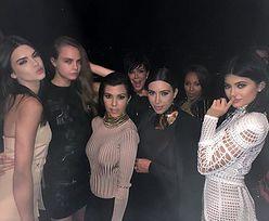 Kardashianki na urodzinach projektanta Balmain (ZDJĘCIA)