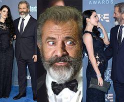 60-letni Mel Gibson z ciężarną dziewczyną na Critics' Choice Awards (ZDJĘCIA)