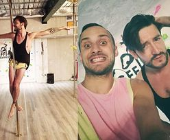 Michał Kwiatkowski tańczy na rurze dla swojego męża! (FOTO)