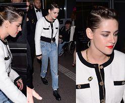 Zgarbiona Kristen Stewart wychodzi z dziewczyną z kina