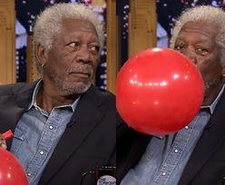 Morgan Freeman mówi na helu!
