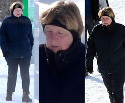 Posępna Angela Merkel świętuje na stoku w towarzystwie przystojnych ochroniarzy