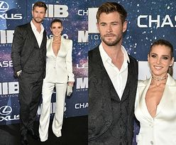 """Chris Hemsworth pozuje z żoną na premierze nowych """"Facetów w czerni"""""""