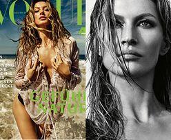 """Kusząca Gisele Bundchen tarza się po plaży w niemieckiej edycji """"Vogue'a"""""""