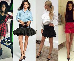 Mini spódniczki w stylizacjach celebrytek