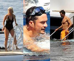 Skąpani w słońcu Majorki Katy Perry i Orlando Bloom wypoczywają na pokładzie gigantycznego jachtu (FOTO)