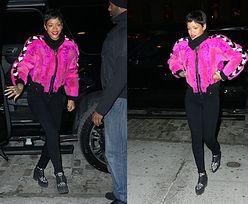 Rihanna w RÓŻOWYM FUTERKU!