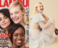 "Elle Fanning, Camila Cabello i Aja Naomi King na okładce ""Glamour"""