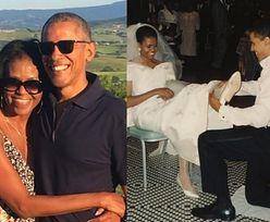"""Michelle Obama pokazała niepublikowane wcześniej zdjęcie ze ślubu. """"Nie wyobrażam sobie tej szalonej jazdy z nikim innym"""""""