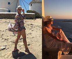 Kinga Rusin siedzi & myśli w Grecji (FOTO)