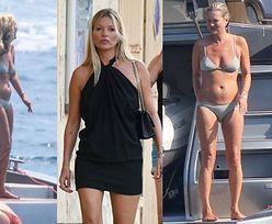 45-letnia Kate Moss spędza beztroskie wakacje w Saint Tropez. Internauci twierdzą, że przybrała na wadze... (ZDJĘCIA)