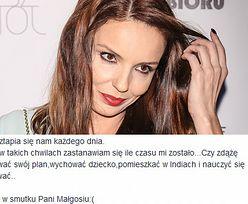 """Włodarczyk opłakuje Braunek na Facebooku: """"CZY ZDĄŻĘ WYCHOWAĆ DZIECKO?"""""""