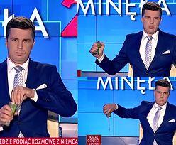 Michał Rachoń vs. Tiger. Dziennikarz TVP wylał puszkę napoju na antenie! (WIDEO)