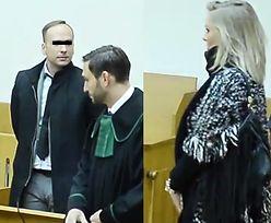 Smutny Dariusz K. przygląda się żonie w sądzie