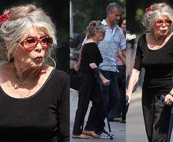 83-letnia Brigitte Bardot idzie o kulach na spotkanie z Macronami (ZDJĘCIA)