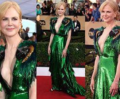 Głęboki dekolt Nicole Kidman na czerwonym dywanie