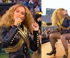 Beyonce POTKNĘŁA SIĘ i prawie upadła na scenie Super Bowl 2016!