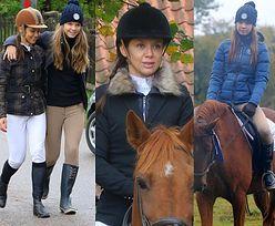 Kinga Rusin z córką Igą jeżdżą konno u Kraśków (ZDJĘCIA)