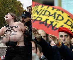 Grupa Femen schwytana przez policję! Półnagie aktywistki sprzeciwiły się faszystom (FOTO)