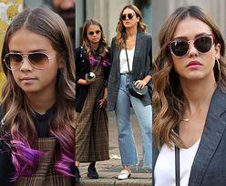 Jessica Alba zabrała córkę na zakupy w Mediolanie