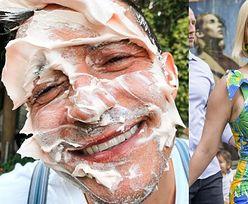 Katy Perry prezentuje ubrudzonego tortem Orlando Blooma, a przy okazji ogłasza światu PŁEĆ DZIECKA
